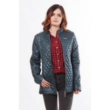 Бирюзовая женская куртка с двумя врезными карманами ОСН902271