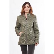 Куртка на молнии женская цвета хаки ОСН902270