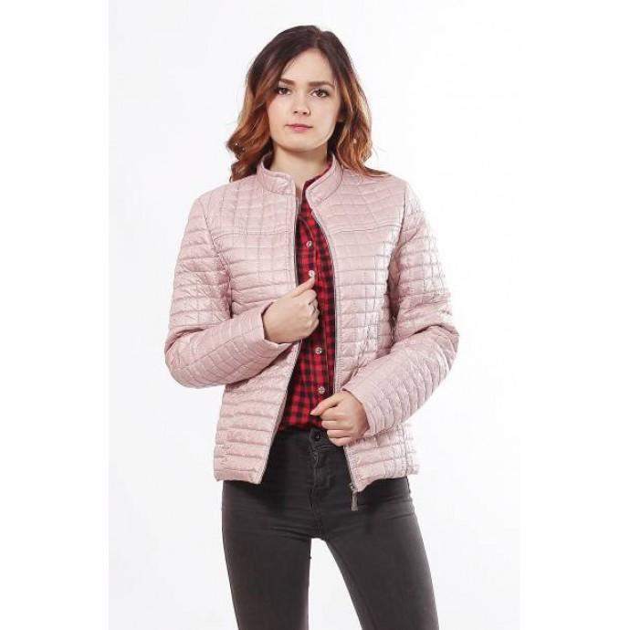 Комфортная женская куртку цвета пудра ОСН902248