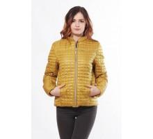 Горчичная куртка женская с карманами ОСН902247