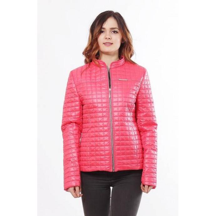 Коралловая женская куртка с воротником стоичка ОСН902246