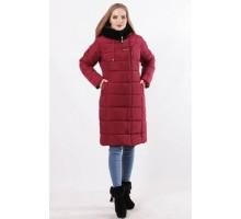 Красивая женская куртка цвет марсала ОСН77708