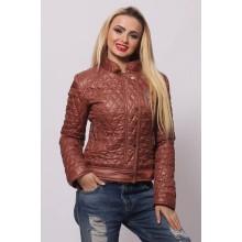 Женская весенняя куртка СК-1 Коричневый 42-50 размеры  ОСН4043