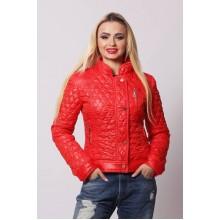 Женская весенняя куртка СК-1 Красный 42-50 размеры  ОСН4045