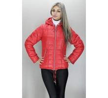 Куртка красная легкая на молнии ОСН6001-2