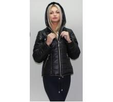 Черная куртка на молнии весна-осень ОСН6001-1