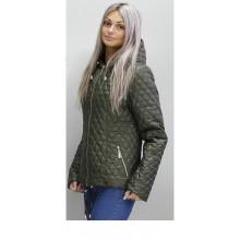 Куртка женская осенняя цвета хаки ОСН60010-1