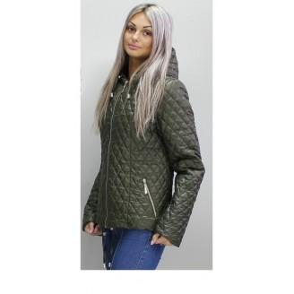 Весенняя стеганая куртка 40-74 размеры КС-2 Хаки ОСН60010-1
