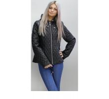 Весенняя стеганая куртка 40-74 размеры КС-2 Черная ОСН60010-2