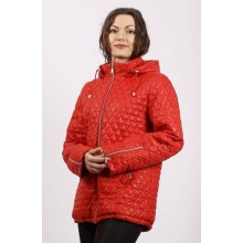Куртка красная весенняя на молнии ОСН6002-4