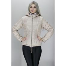 Женская куртка 40-74 размеры КР-3 Бежевая ОСН60012-3