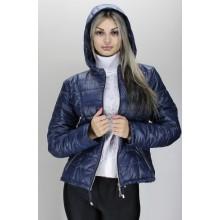 Женская куртка 40-74 размеры КР-3 Темно-синяя ОСН60012-4