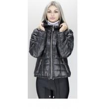 Куртка женская карманы на молнии черная ОСН60012-5