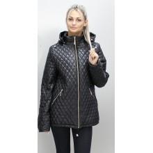 Куртка женская с молниями весна осень черная ОСН6002