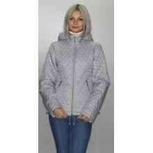 Куртка весенняя стальная на молнии ОСН6003-3
