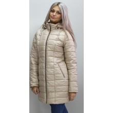 Куртка осень-весна бежевая длинная ОСН6004-5