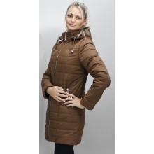 Куртка осень-весна матовая коричневая ОСН6004-3