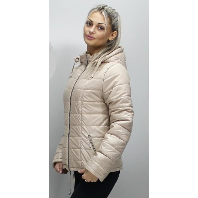 Женская куртка 40-74 размеры КР-1 Бежевая ОСН6006-8