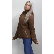 Женская куртка 40-74 размеры КР-1 Коричневая ОСН6006-6