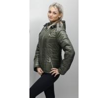 Женская куртка 40-74 размеры КР-1 Хаки ОСН6006-7