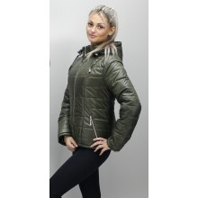 Куртка с капюшоном цвет хаки ОСН6006-7