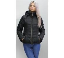 Женская куртка 40-74 размеры КР-1 Черная ОСН6006-4