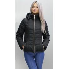 Куртка на молнии черная весенняя ОСН6006-4
