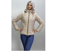 Куртка весенняя 40-74 размеры КМ -1 Бежевая ОСН6007