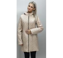 Куртка женская длинная бежевая ОСН6008-2
