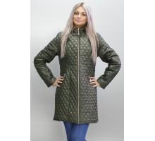 Женская длинная куртка цвета хаки ОСН6008-3