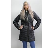 Черная женская куртка с капюшоном  ОСН6008-1