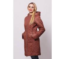 Куртка весенняя недорогая коричневая ОСН902234