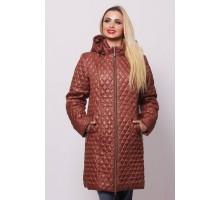 Женская весенняя куртка коричневая ОСН902228