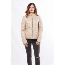 Бежевая женская куртка из водоотталкивающего материала ОСН902269
