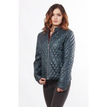 Женская куртка бирюзовая без капюшона ОСН902265