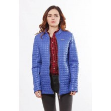 Женская куртка из плащовки цвета электрик ОСН902255