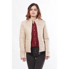 Бежевая женская куртка на молнии ОСН902249