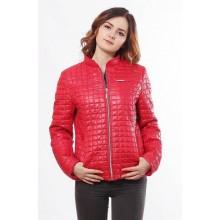 Красная женская куртка в квадратик ОСН902242