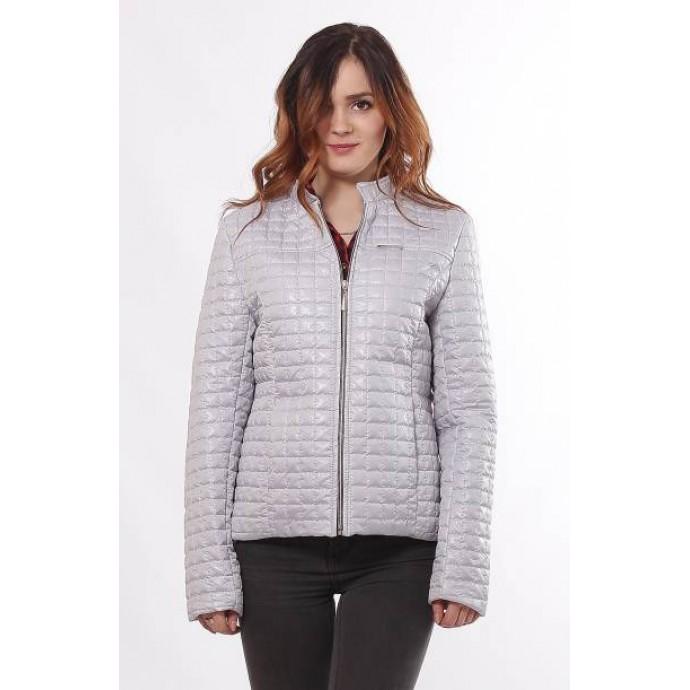 Водоотталкивающая куртка женская стальная ОСН902239
