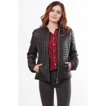 Женская куртка черная без капюшона ОСН902237