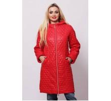 Куртка красная весенняя длинная ОСН902233