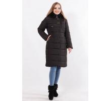 Черная зимняя модная куртка на утеплители синтепон ОСН77705