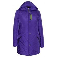 Женская куртка для полных фиалка ЛАНА4309-81