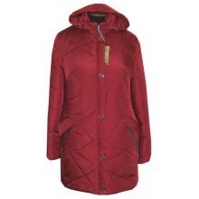 Женская вишневая куртка больших размеров ЛАНА4308-81
