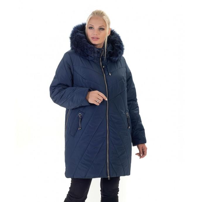 Зимняя женская куртка с мехом ЛАНА77034-138