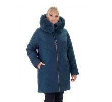 Зимняя женская куртка с мехом свободного силуэта ЛАНА77036-138