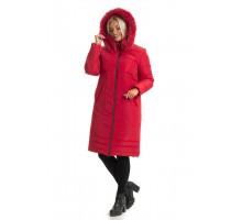 Модный красный пуховик для женщин ЛАНА77064-130