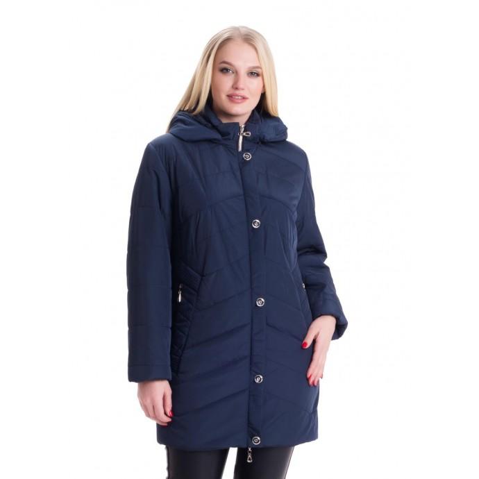 Демисезонная синяя куртка женская ЛАНА127-78