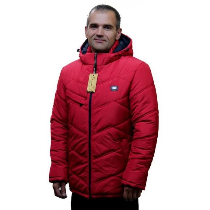 Зимняя мужская куртка красная ЛАНА7-11