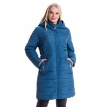 Женская малахитова куртка больших размеров весна ЛАНА66117-3